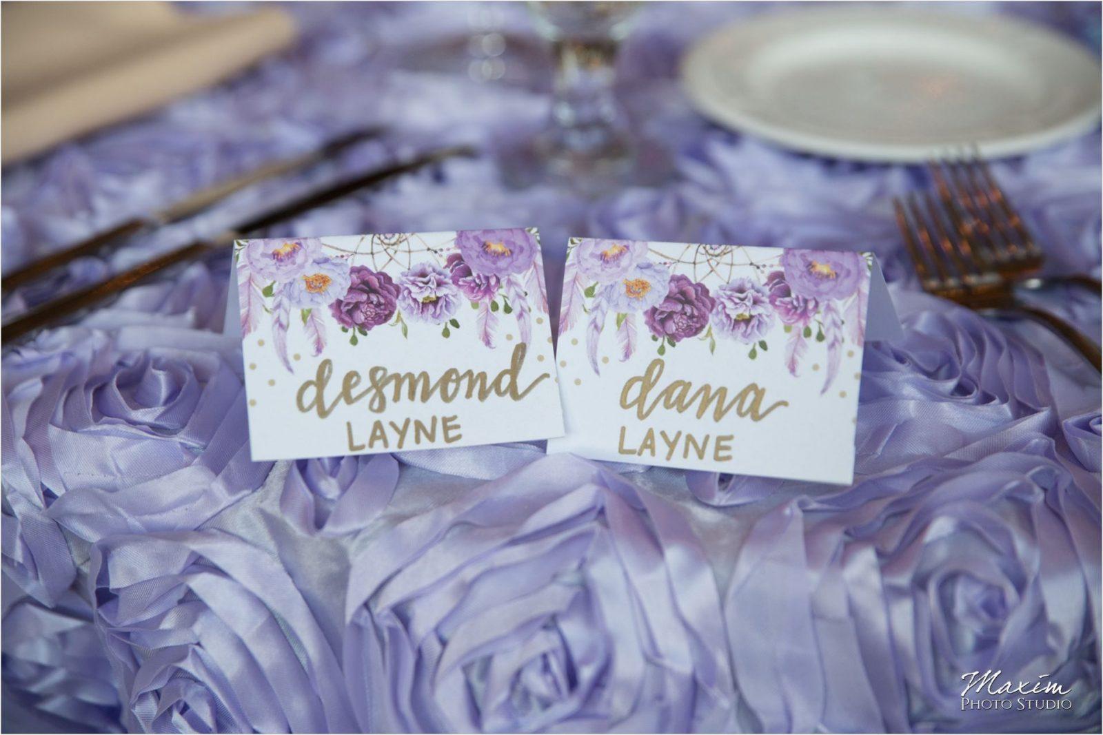 CV Linens McHale's Catering Drees Pavilion Wedding Reception details