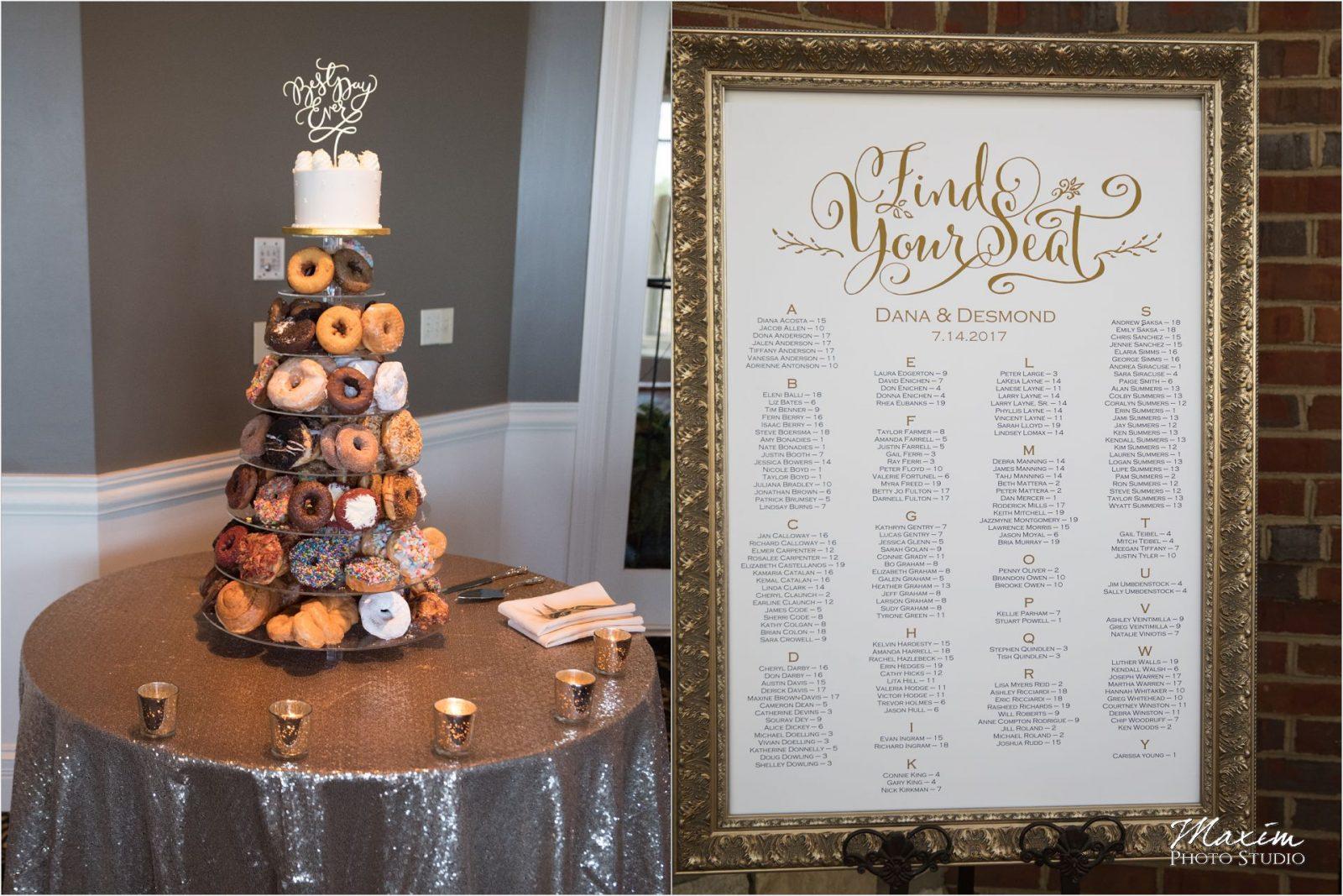Holtman's Donuts Drees Pavilion Wedding Cake