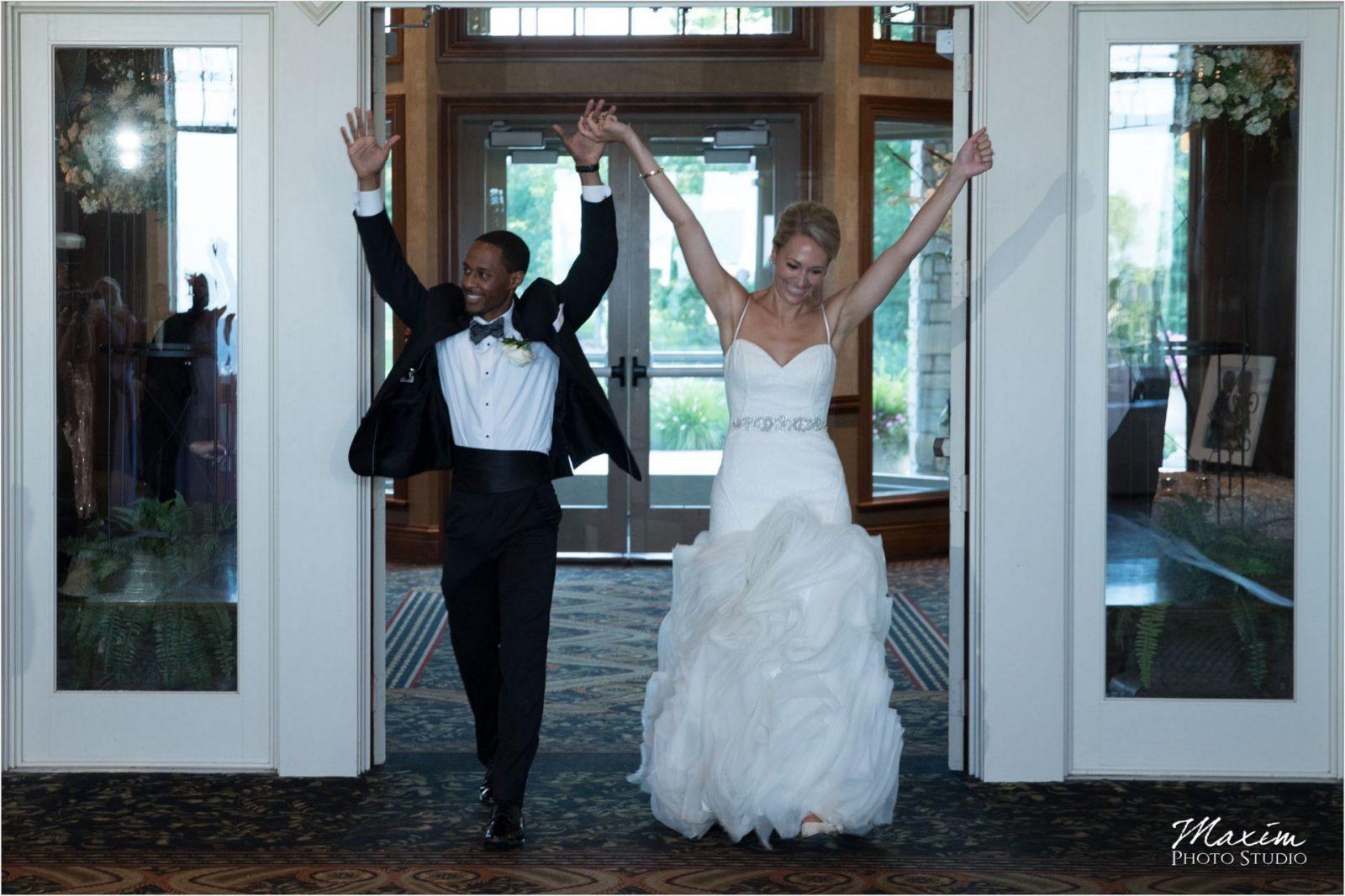 Cincinnati Wedding Photographers Drees Pavilion Wedding Reception entrance
