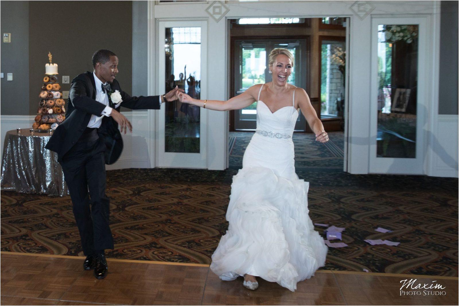 Cincinnati Wedding Photographers Drees Pavilion Wedding Reception bride dance