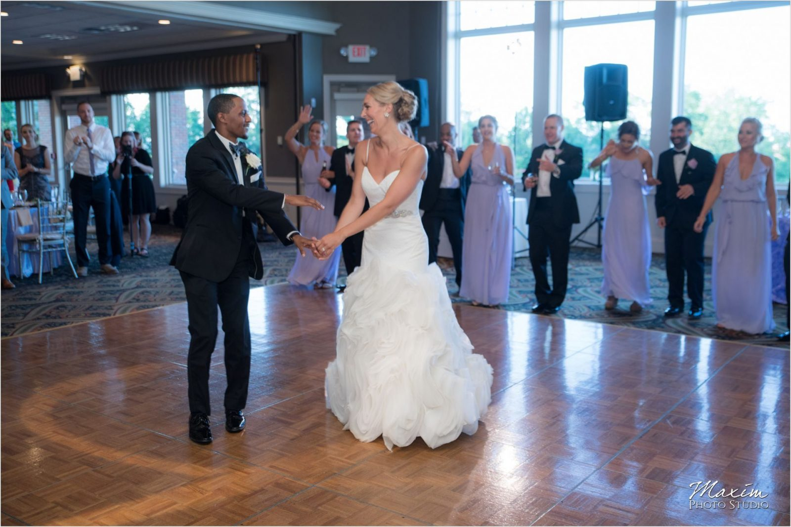 Cincinnati Wedding Photographers Drees Pavilion Wedding Reception groom dance