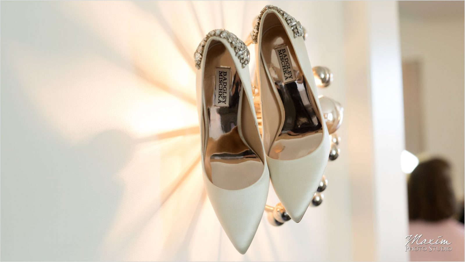 21C Museum Hotel Wedding shoes Badgley Mischka