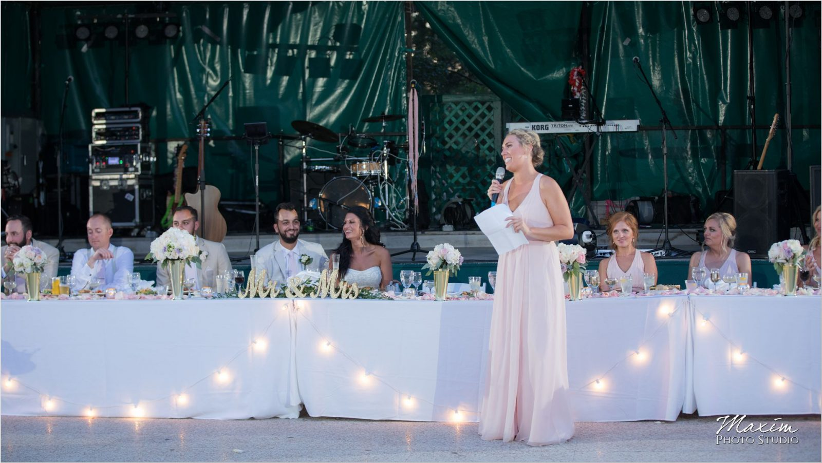Moonlight Gardens Coney Island Wedding Reception toasts