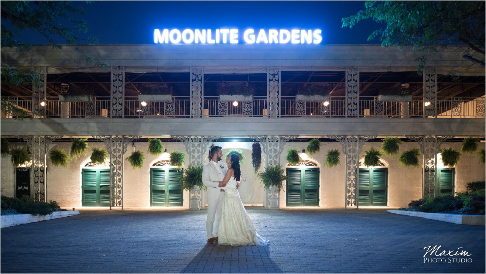 Moonlight Gardens Coney Island night wedding
