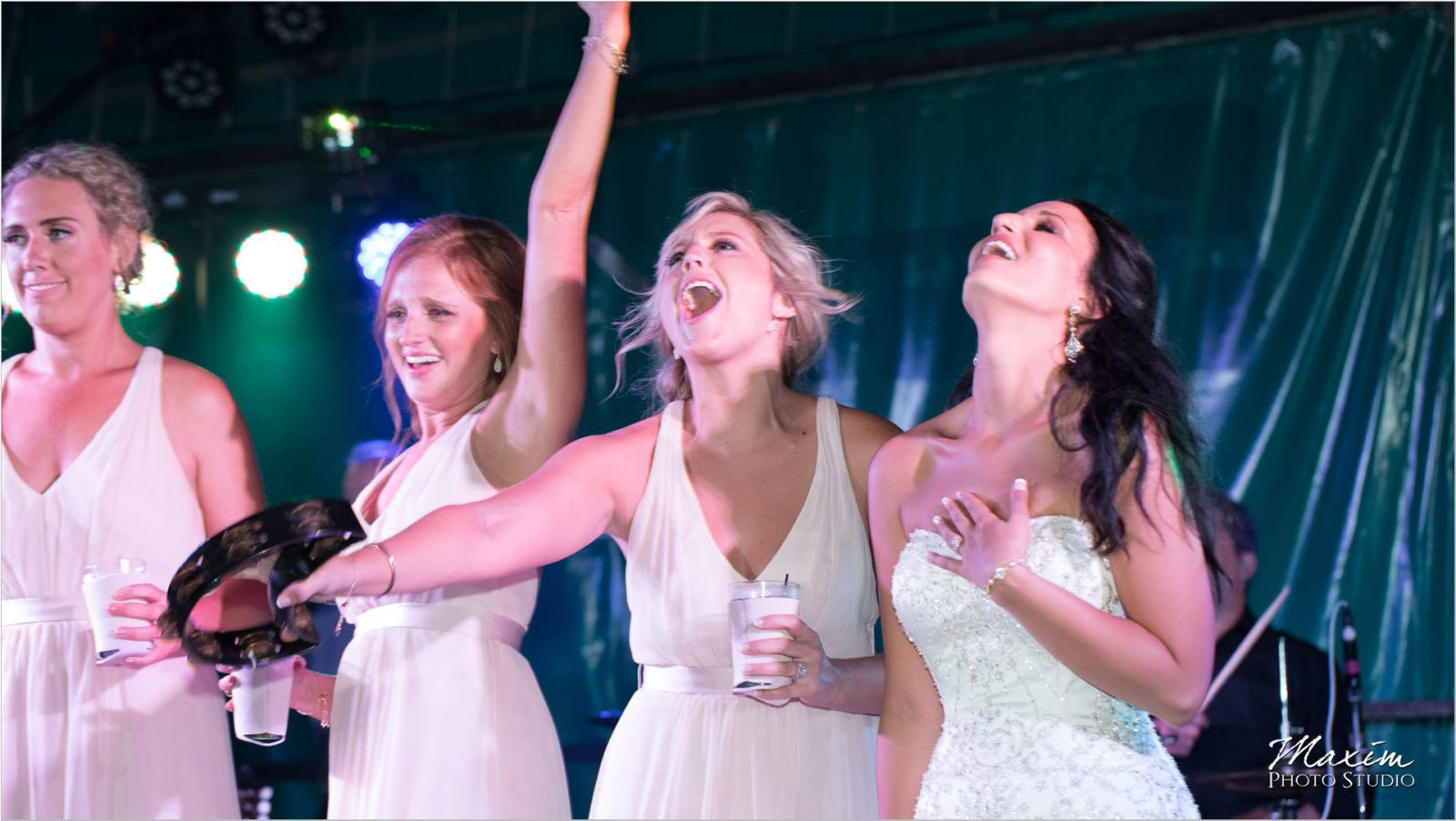 Moonlight Gardens Coney Wedding Reception dance bridesmaids