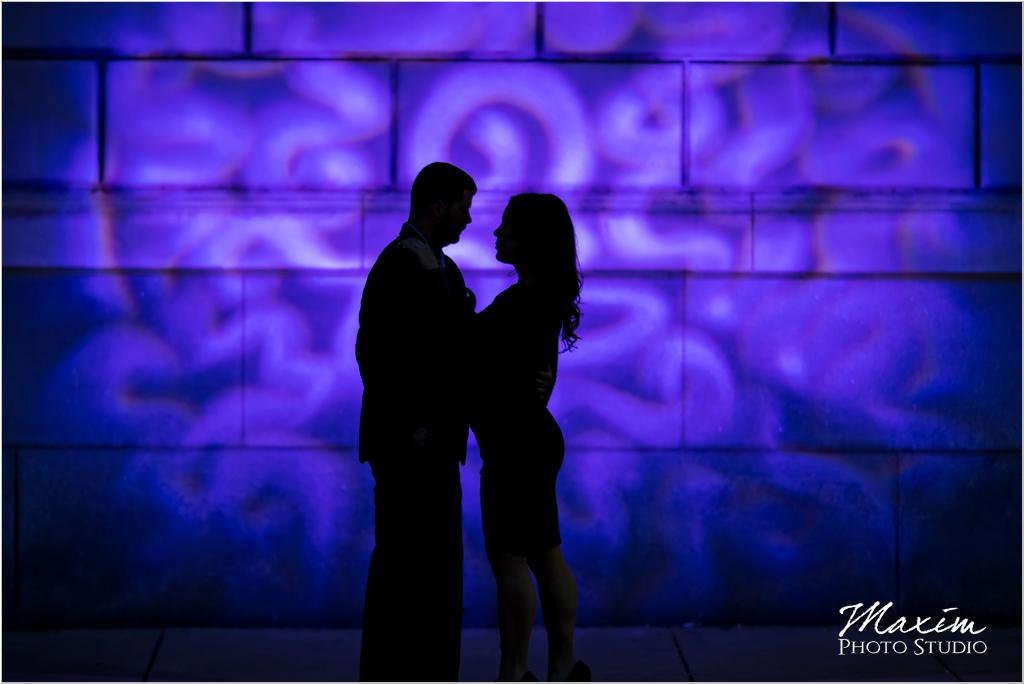 Cincinnati Masonic Temple wall purple color engagement