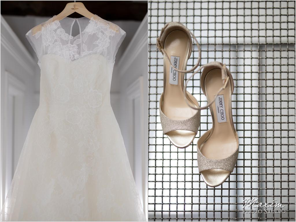 Gibson Lofts Cincinnati Vera Wang Dress Wedding Shoes Jimmy Choo