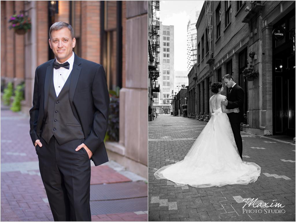Nicholson Alley Cincinnati Wedding Portraits