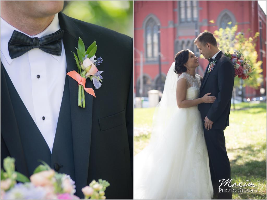 The Transept Washington Park Cincinnati Wedding Bride Groom Marti Heard Flowers