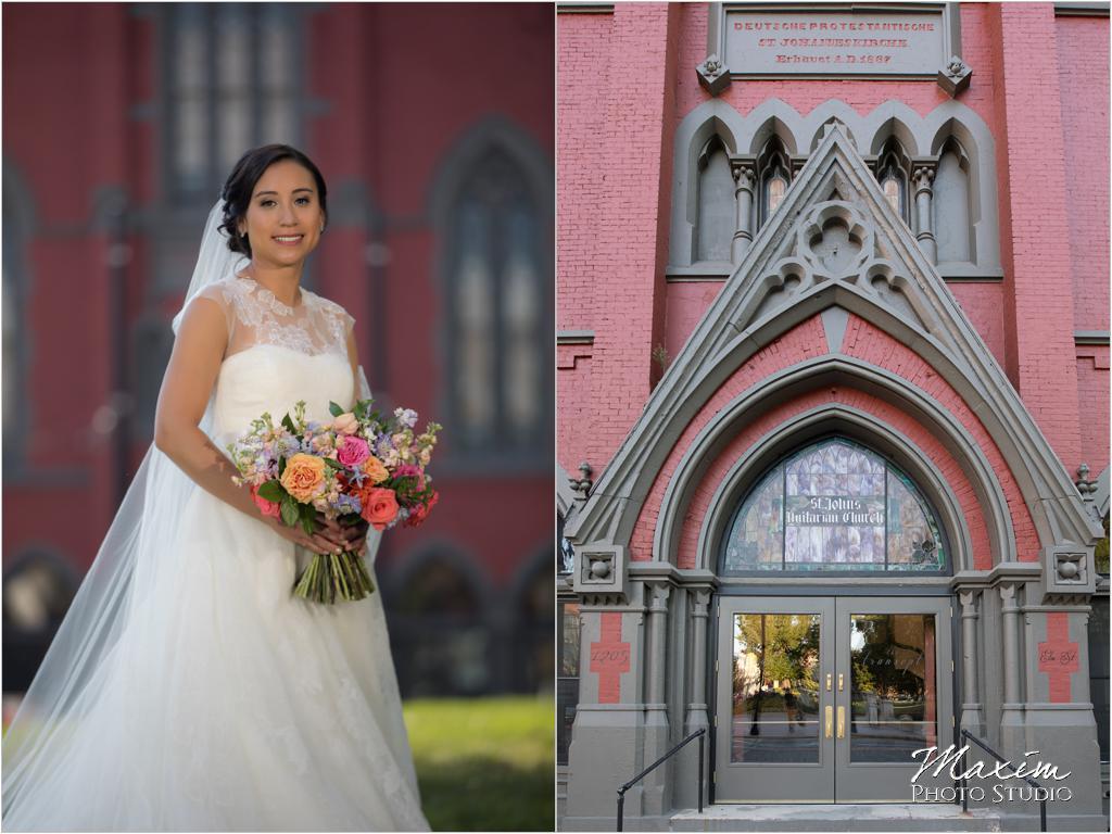 The Transept Washington Park Cincinnati Wedding Bride Marti Heard Flowers