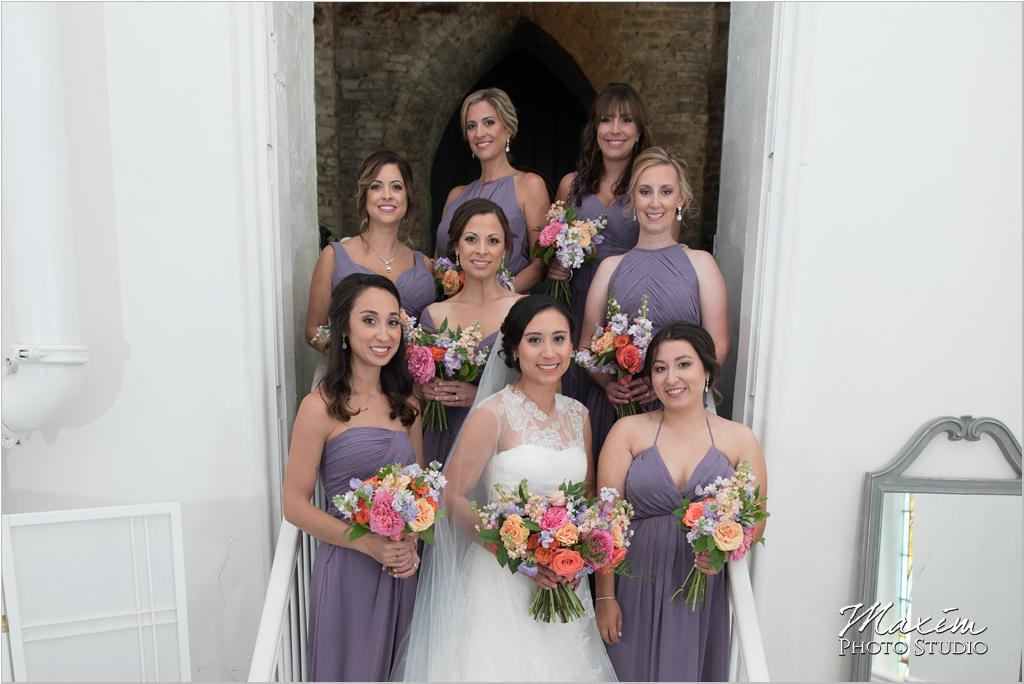The Transept Cincinnati Wedding Bridesmaids Marti Heard Flowers