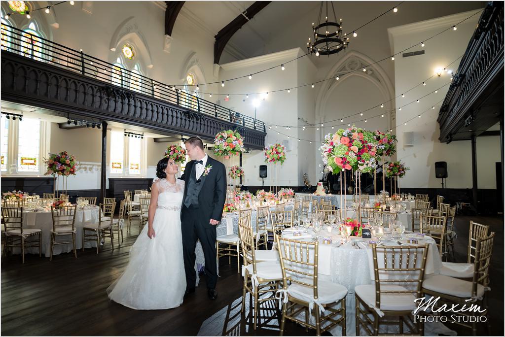 The Transept Cincinnati Wedding Reception bride groom