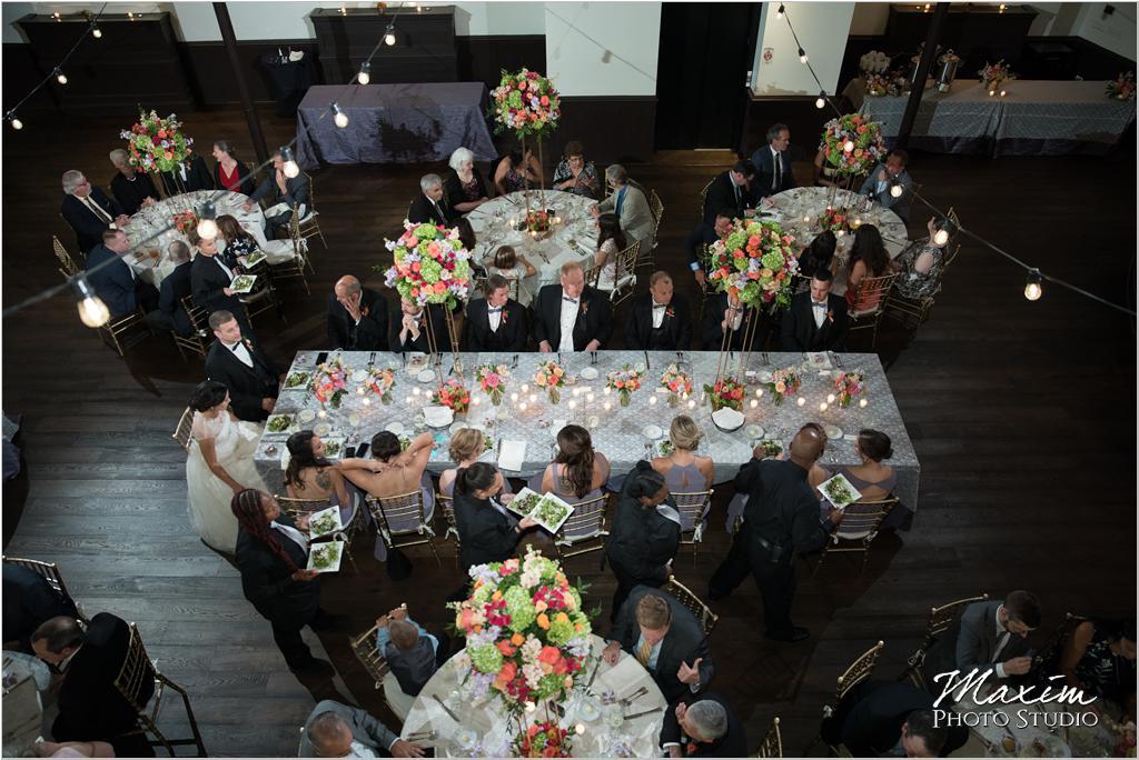 The Transept Cincinnati Wedding Reception seating