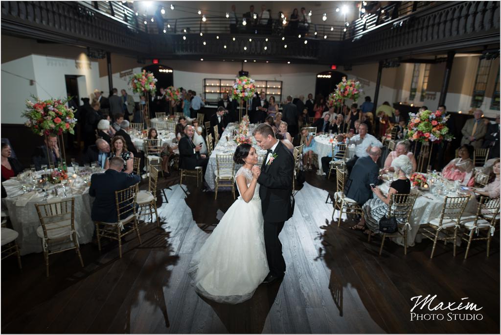 The Transept Cincinnati Wedding Reception first dance