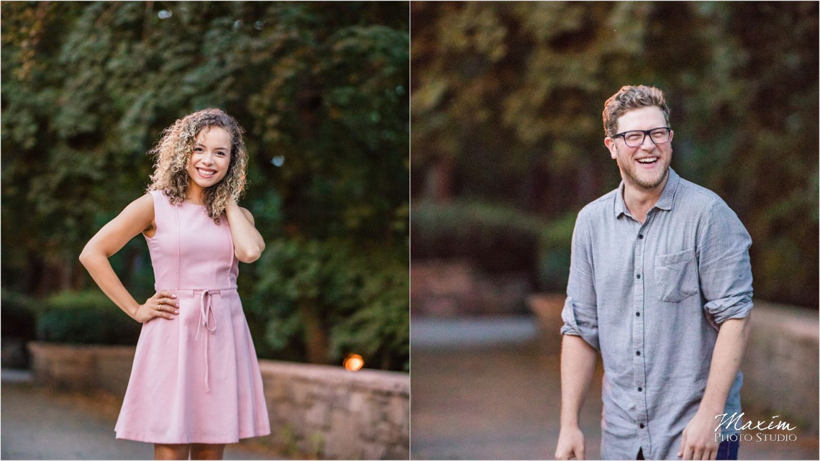 NYC park night engagement