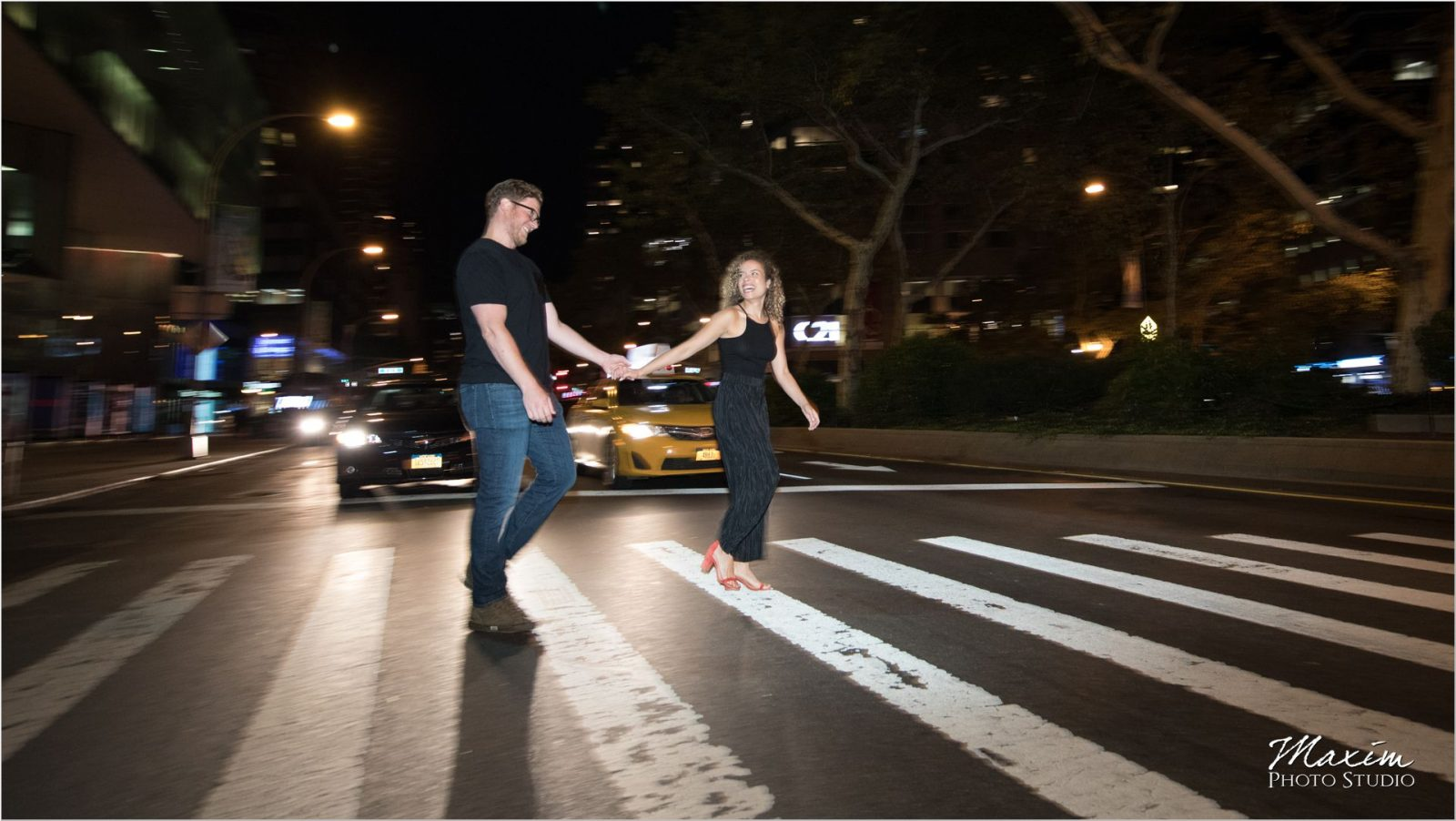 Lincoln Center traffic NYC night engagement