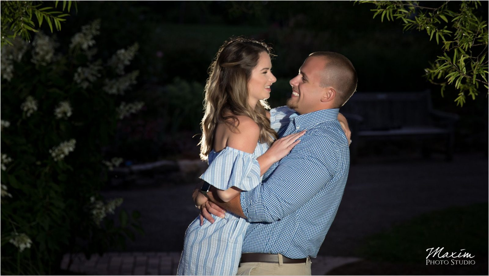 Cox Arboretum night engagement