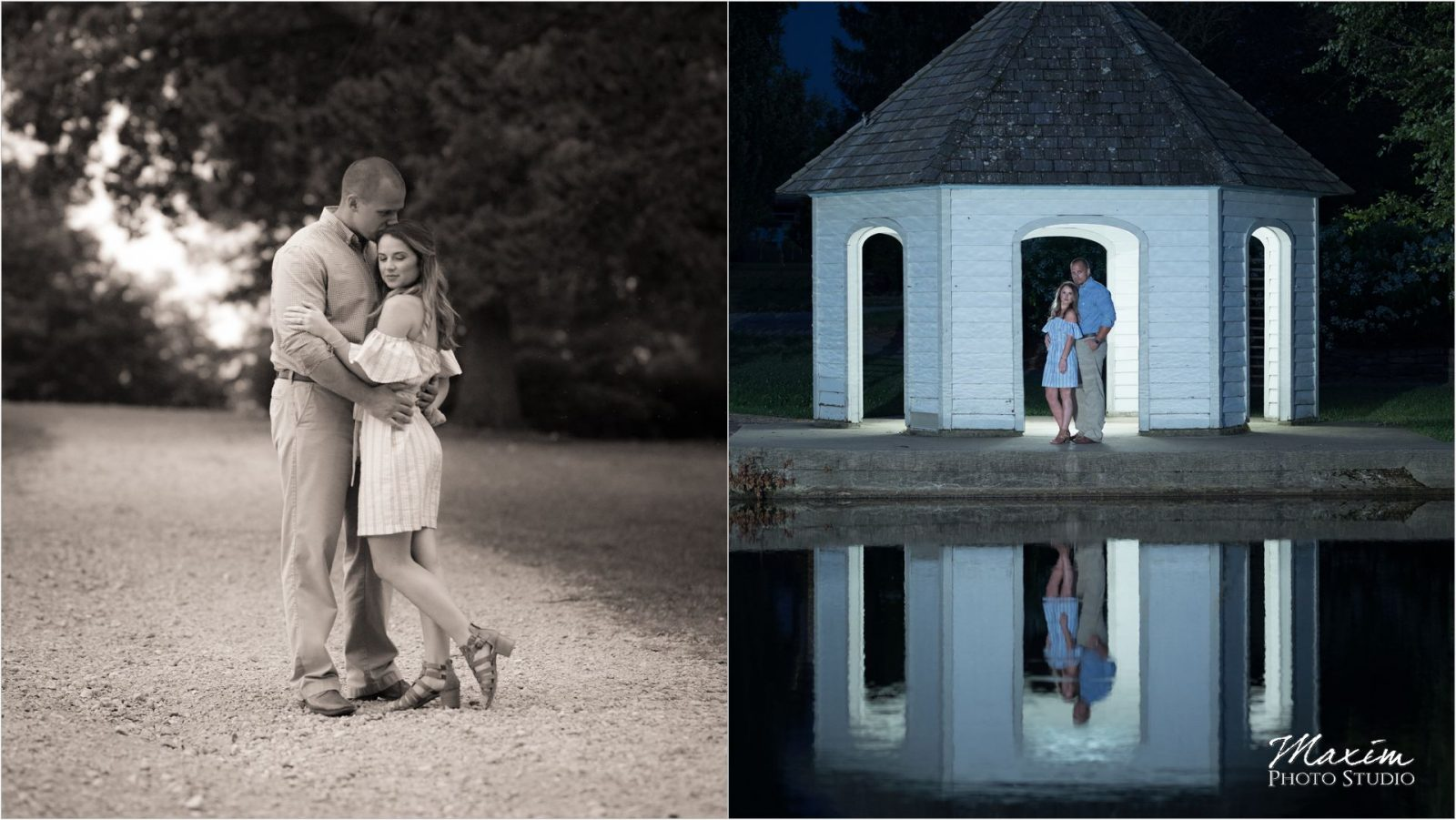 Best Dayton Ohio Cox Arboretum night engagement reflections