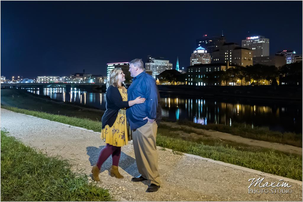 Downtown Dayton Engagement Riverscape