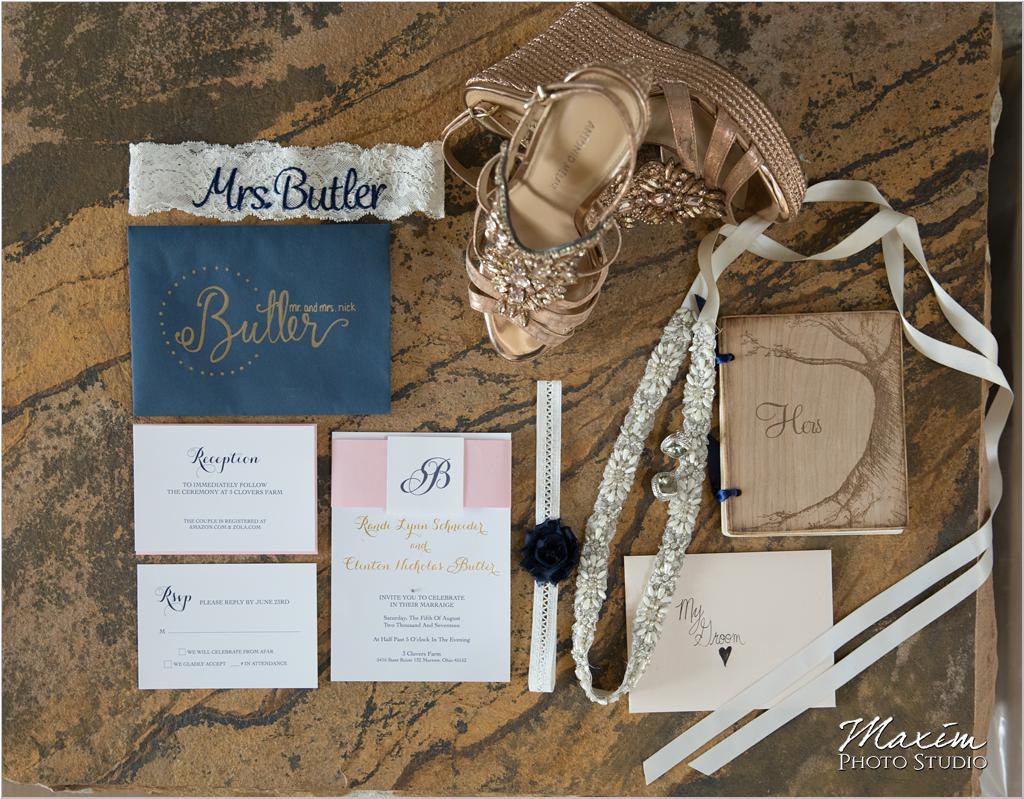 Ohio countryside Wedding invitations
