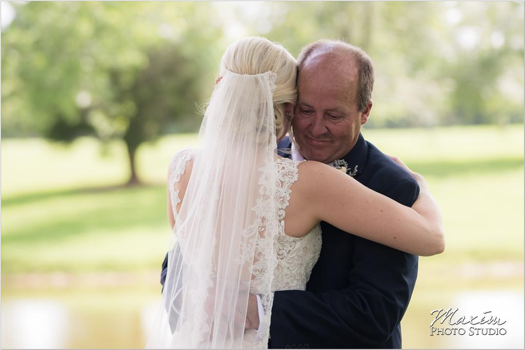 Bride father first look wedding day