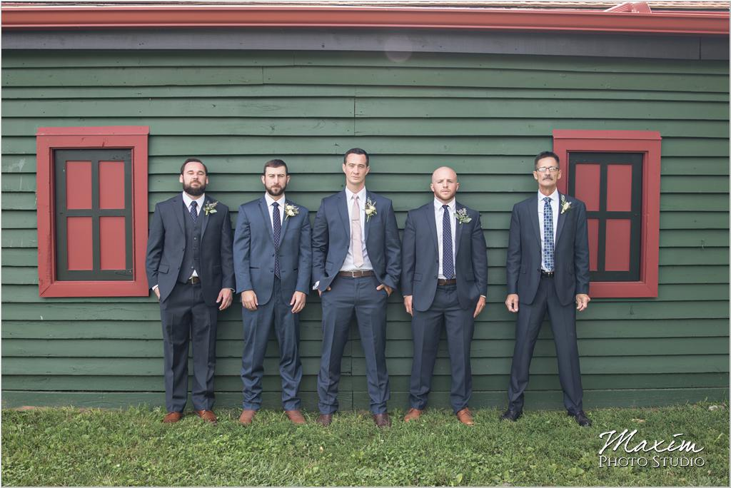 Ohio country horse farm wedding groomsmen