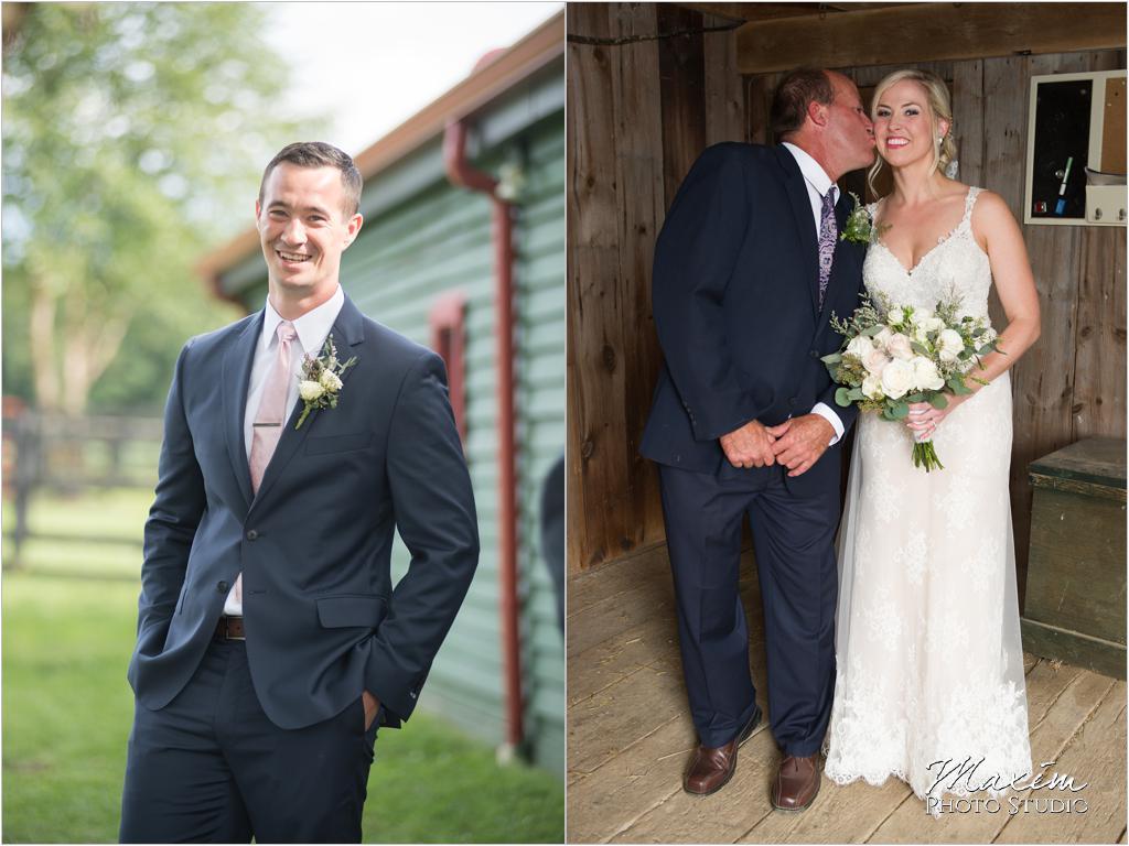 Ohio horse farm wedding bride groom