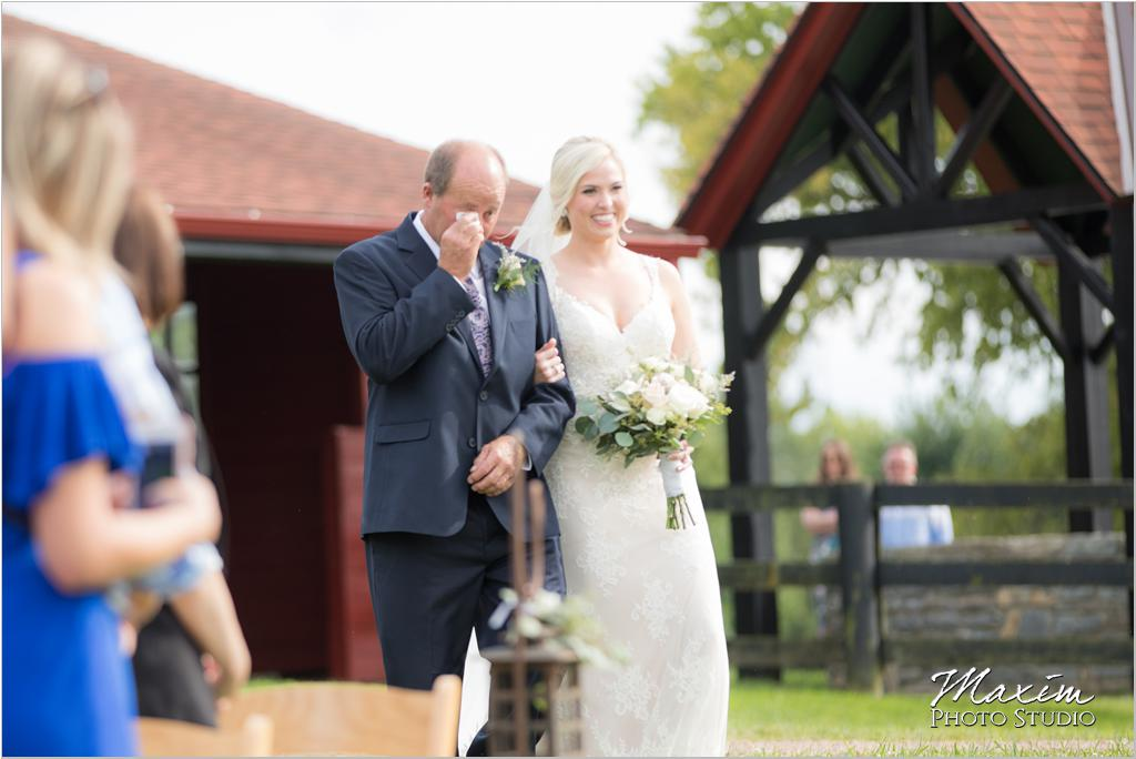Ohio horse farm wedding ceremony