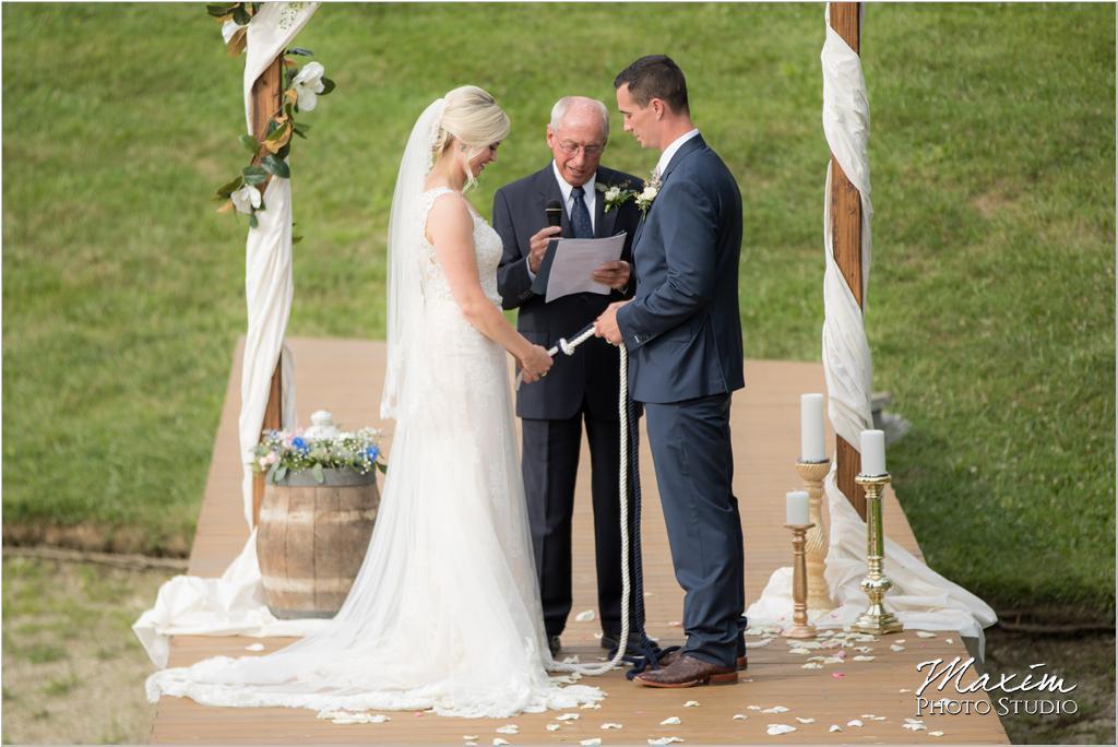 Ohio horse farm wedding rope ceremony