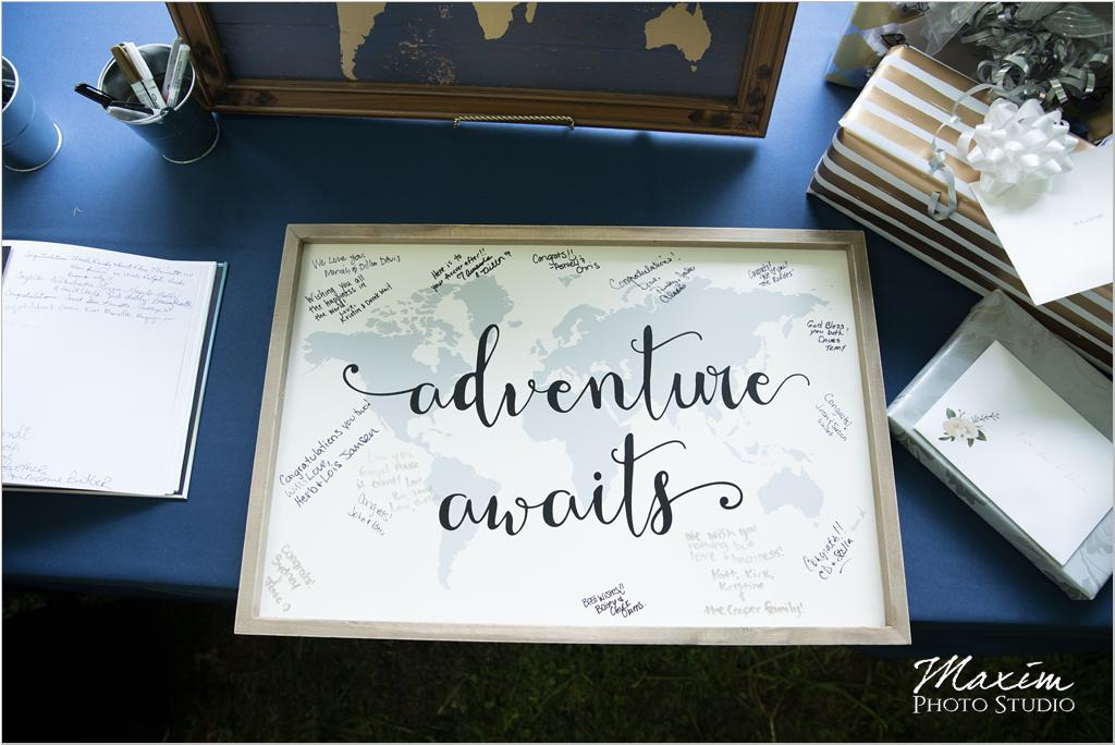 Ohio Horse farm Adventure awaits wedding sign