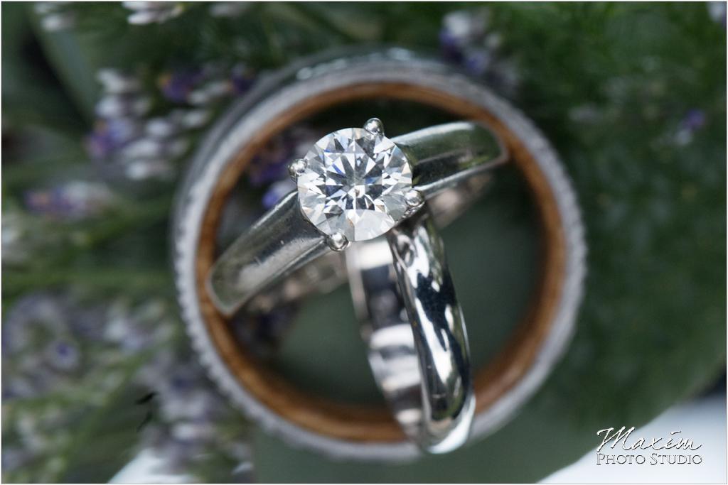 Ohio horse farm wedding rings