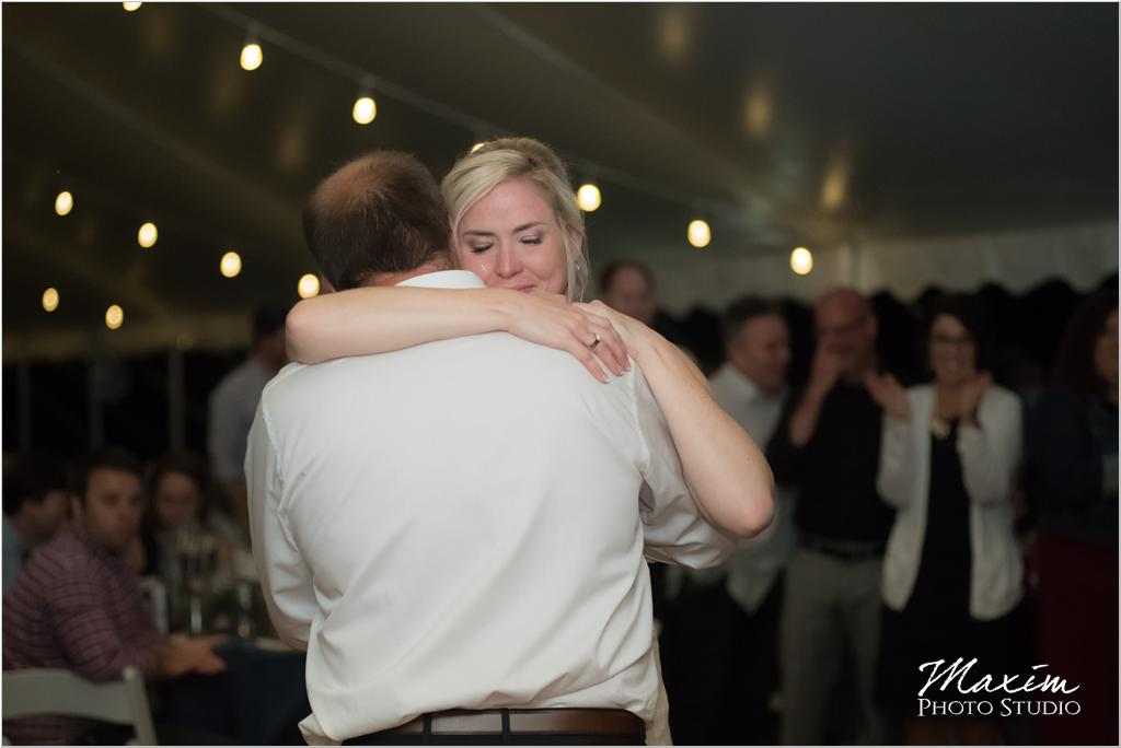 Ohio horse farm wedding tent reception father daughter dance