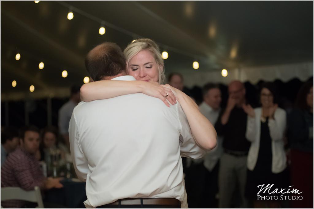 Ohio horse farm wedding tent reception father daughter dance