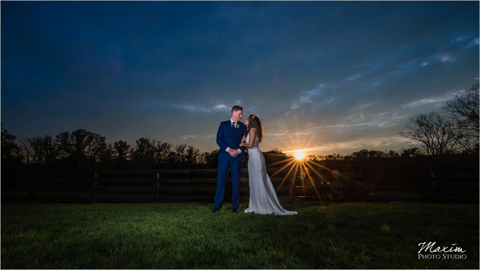 Canopy Creek Dayton Oh Wedding Sunset