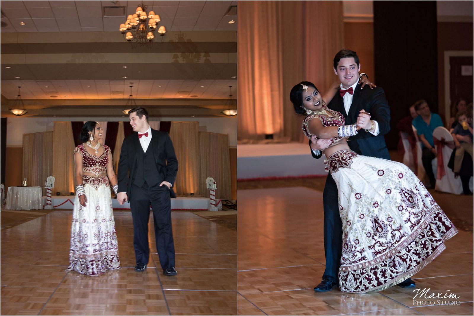 Savannah Center Cincinnati Indian Wedding Reception dance