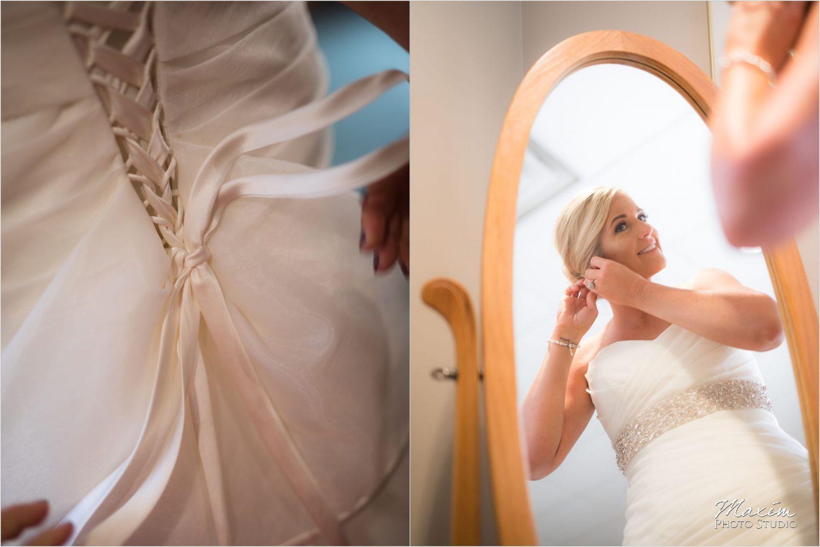 St Charles Borromeo Dayton Ohio wedding bride dress