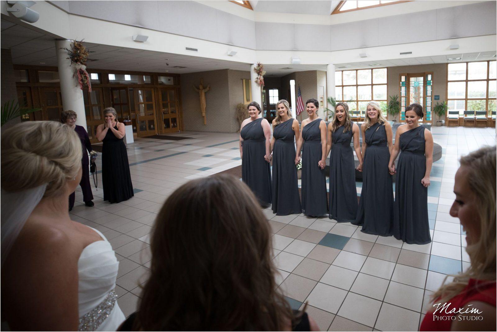 St Charles Borromeo Dayton Ohio wedding bridesmaids reveal