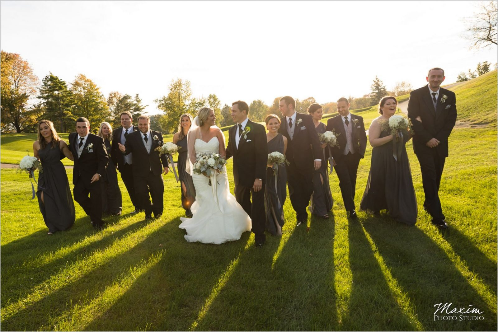 Dayton Country Club Wedding bridal Party pictures
