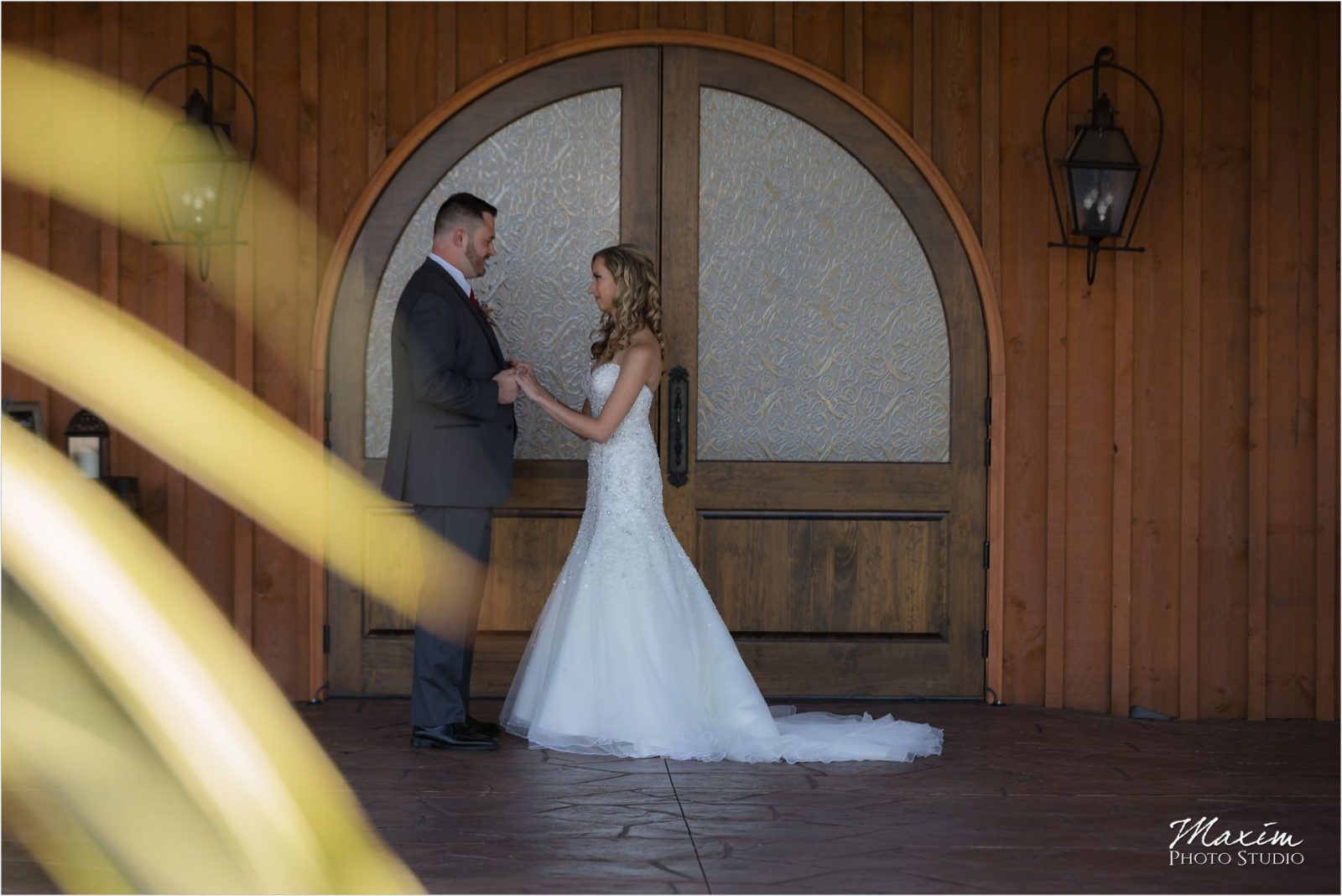 Rolling Meadows Ranch Lebanon Ohio Wedding bride groom first look