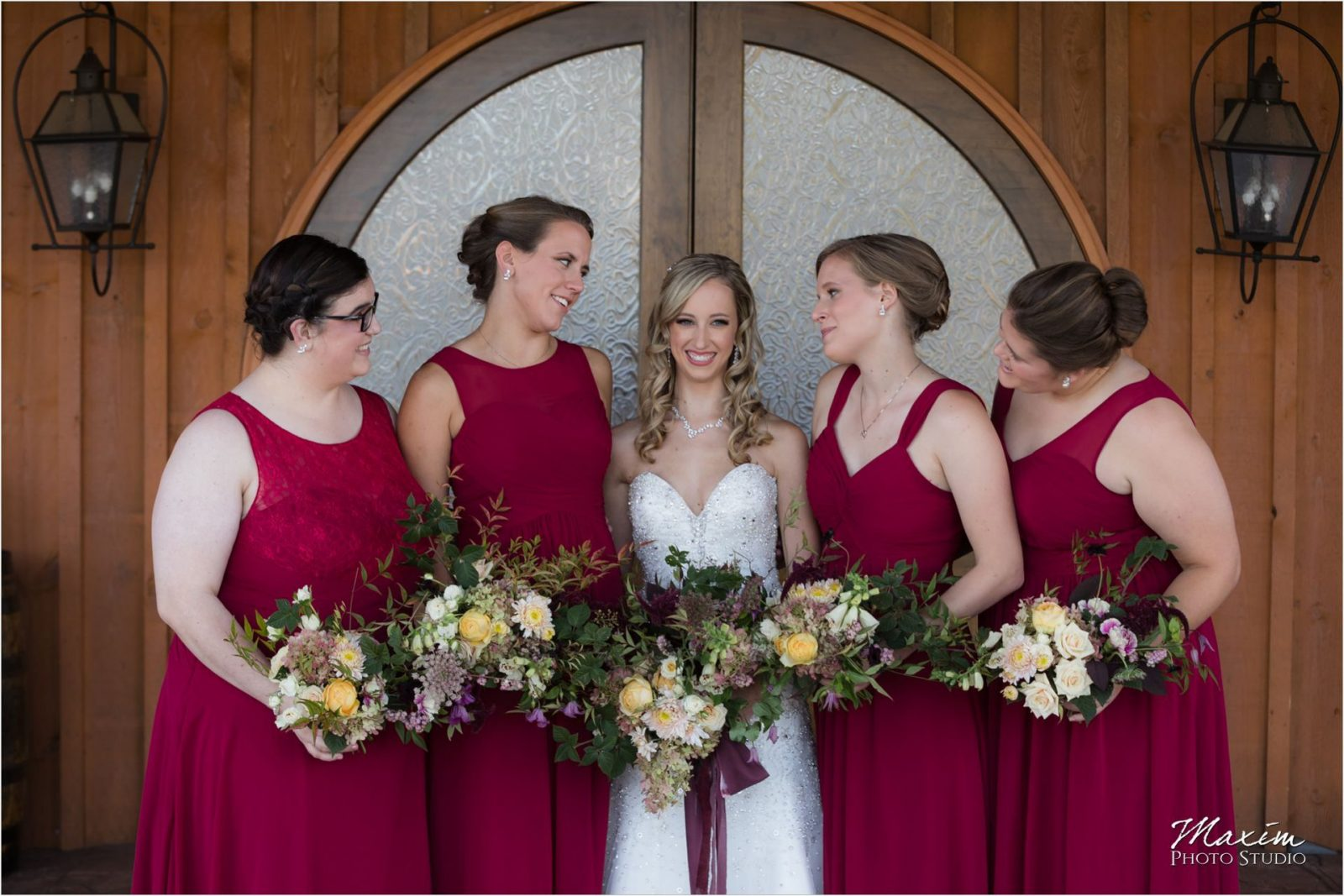 Rolling Meadows Ranch Lebanon Ohio Wedding bride bridesmaids