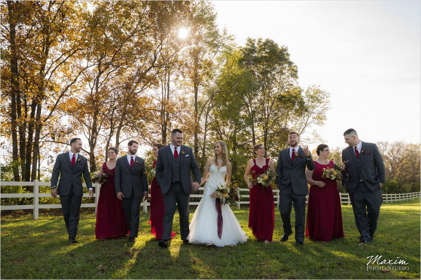 Rolling Meadows Ranch Lebanon Ohio Wedding bridal party