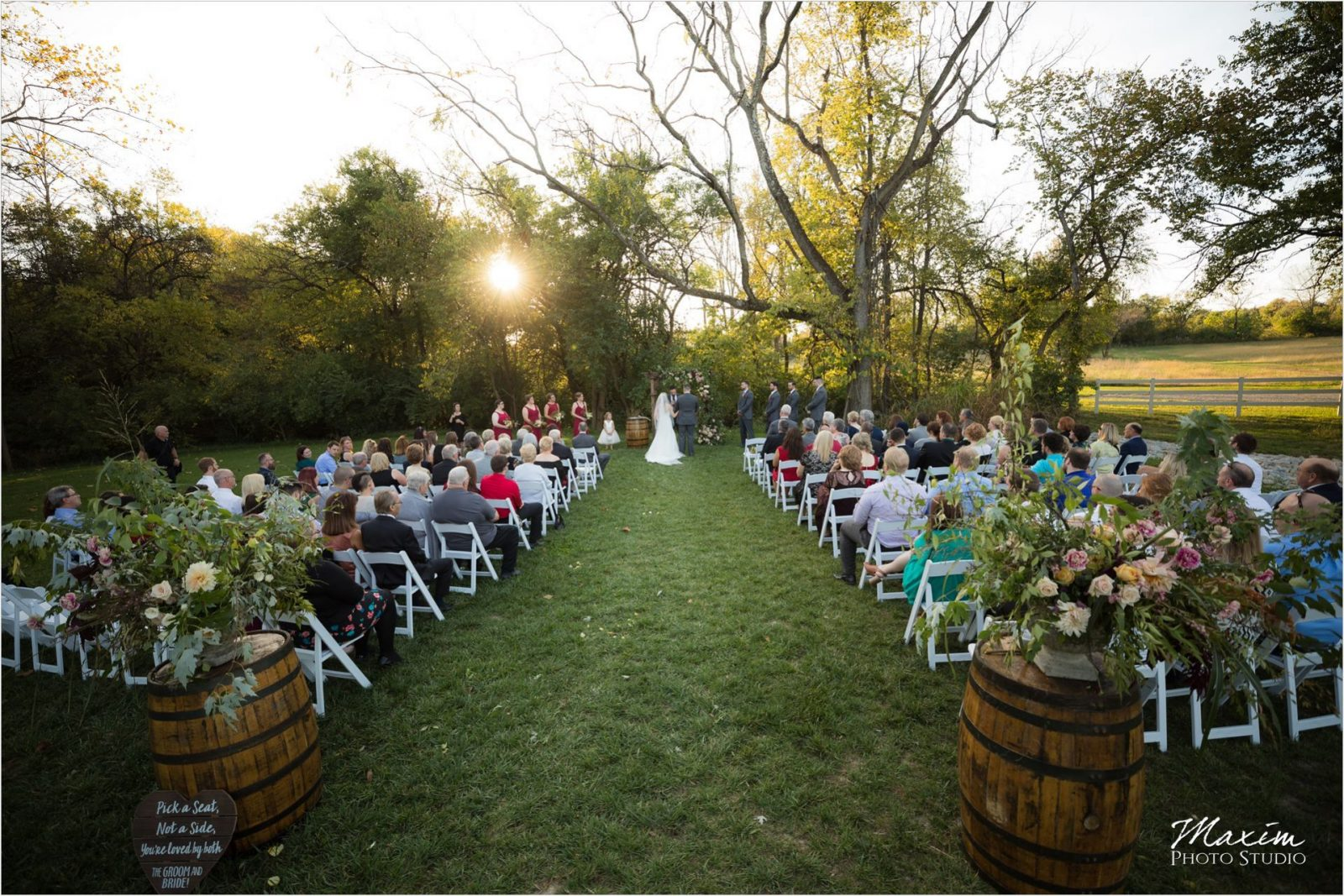 Rolling Meadows Ranch Lebanon Ohio Wedding Ceremony