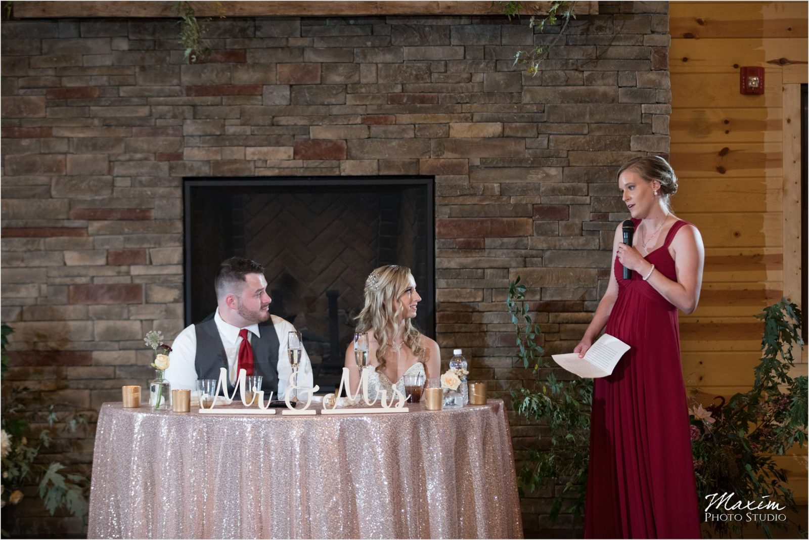 Rolling Meadows Ranch Wedding Reception toasts