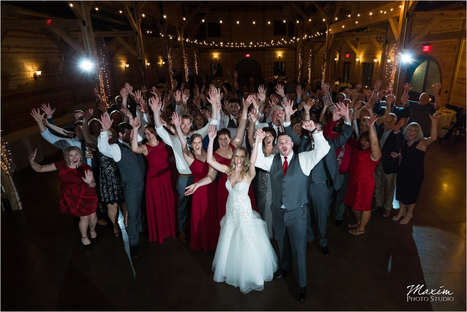 Rolling Meadows Ranch Wedding Reception Group photo