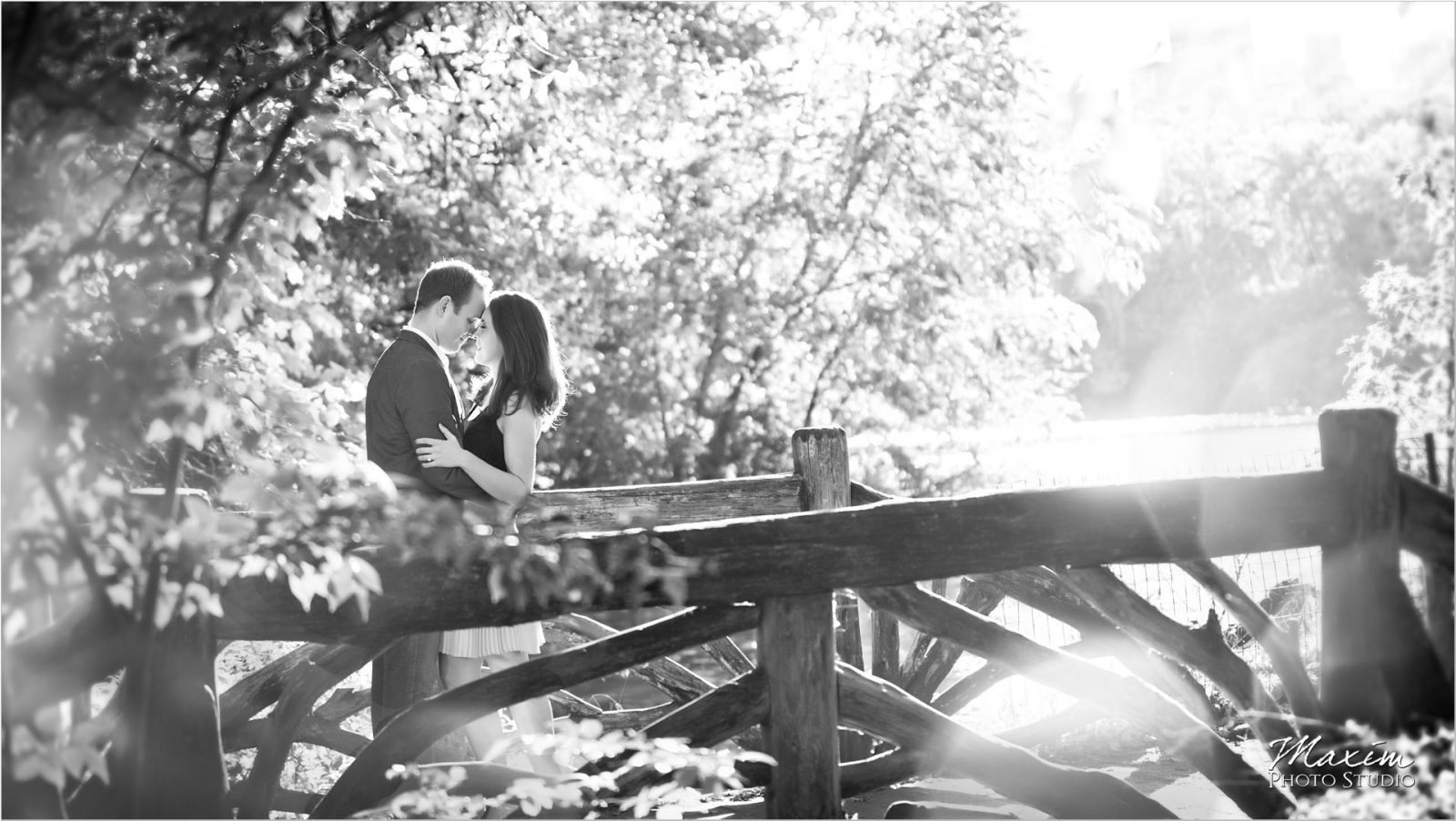 New York City Central Park Engagement sunburst