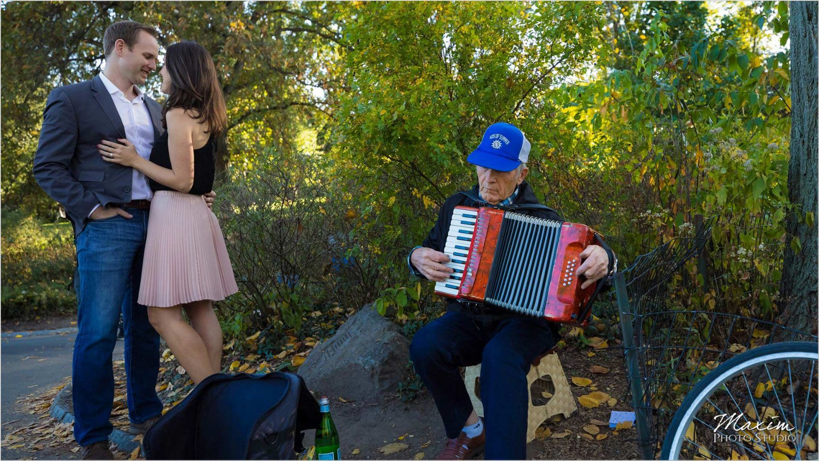 New York City Central Park Engagement accordion