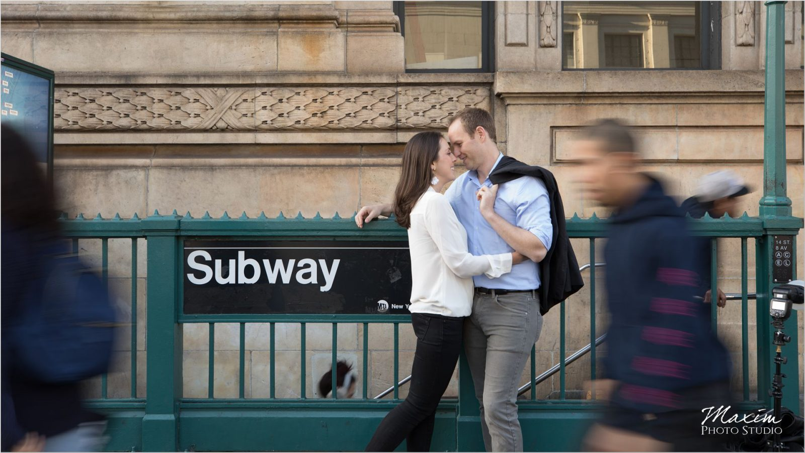 New York City Meatpacking District Engagement subway