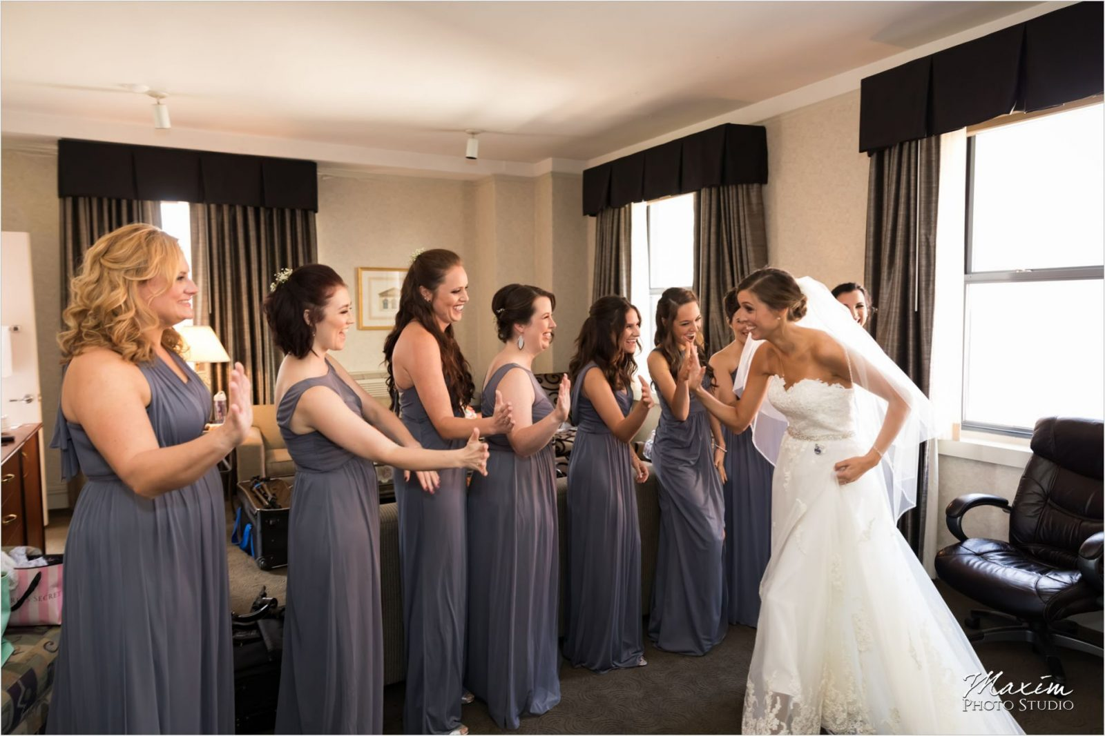 Hilton Netherland Plaza Cincinnati Wedding Bride Preparations