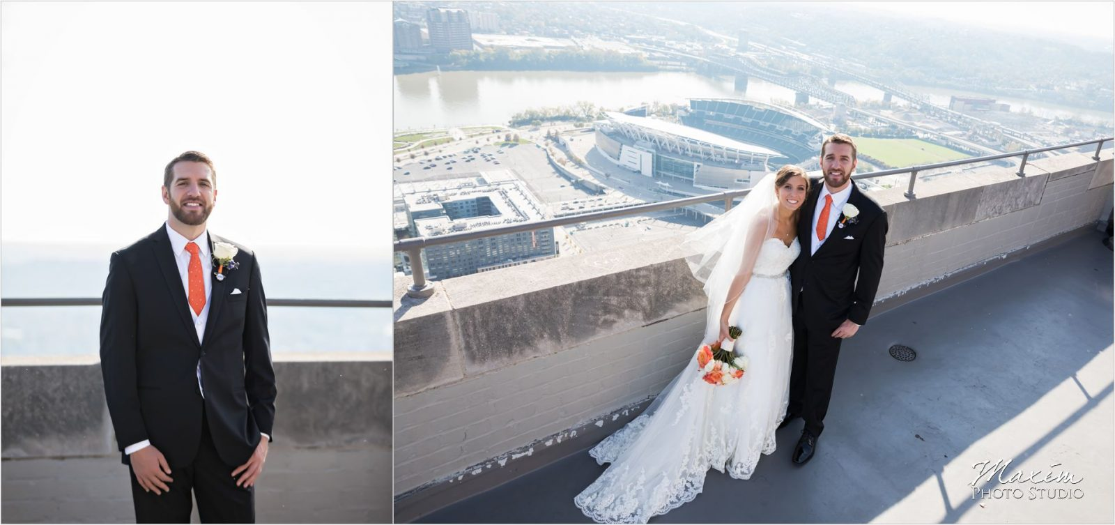 Carew Tower Observation Deck Cincinnati Wedding Paul Brown Stadium
