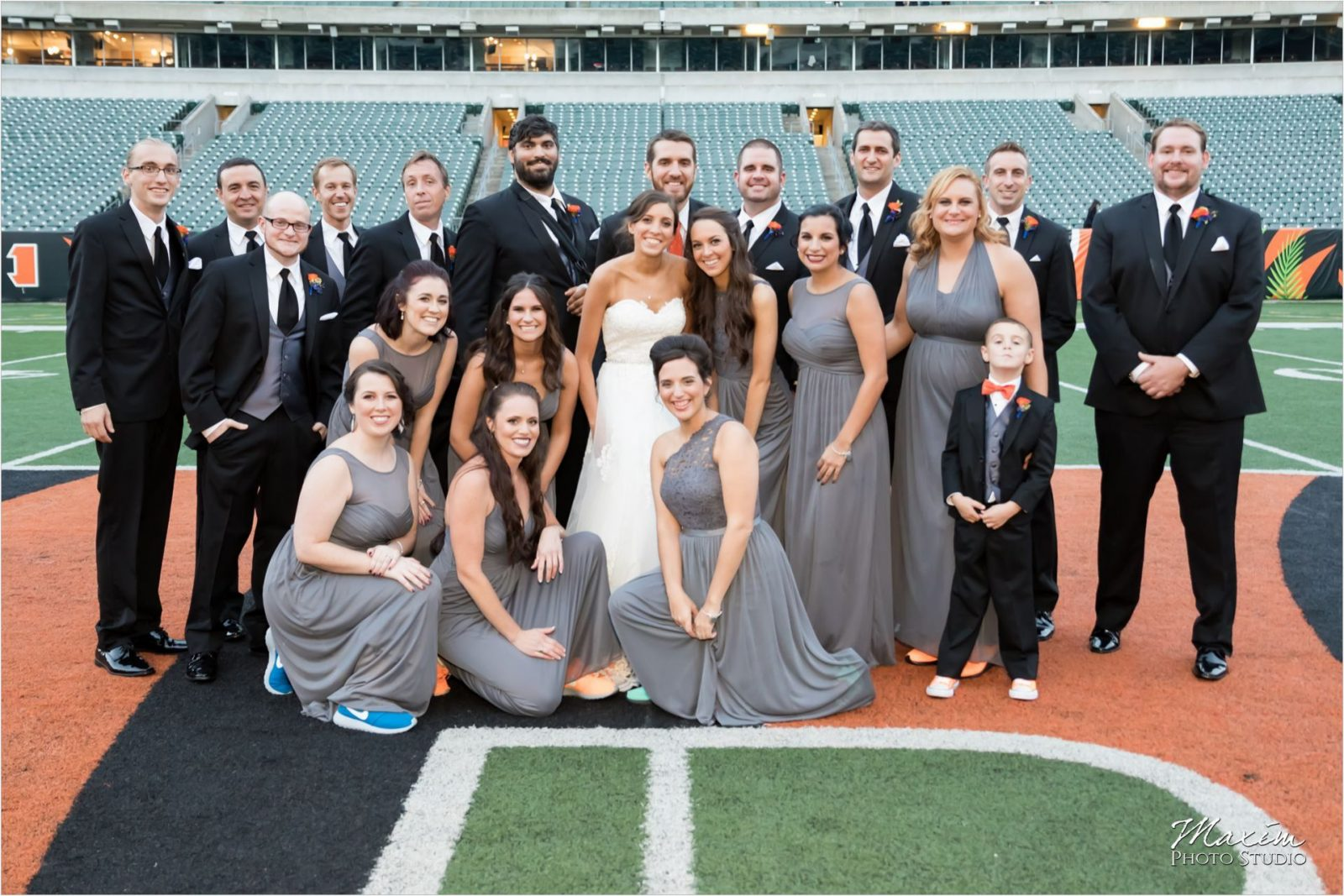 Paul Brown Stadium Wedding Reception Bengals field